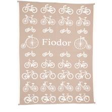 "Individuelle Babydecke ""Bicycles"""